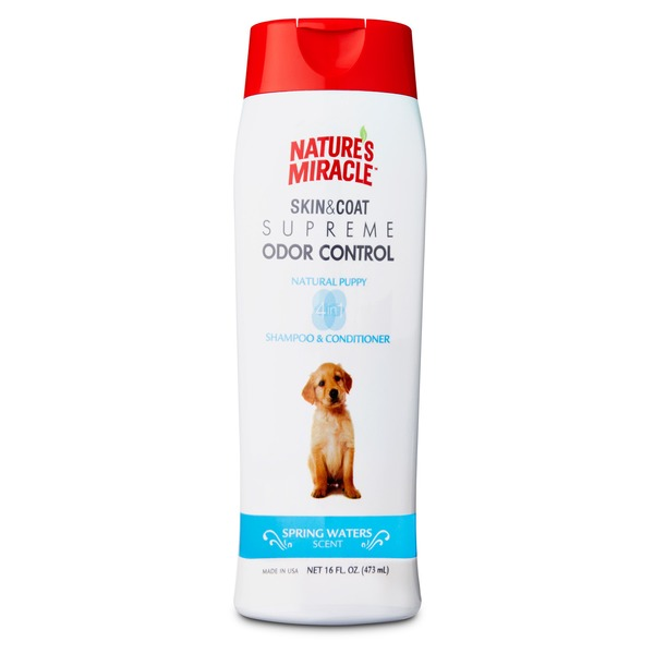 Nature's Miracle Supreme Odor Control Natural Puppy Shampoo & Conditioner