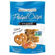 Snack Factory Pretzel Crisps, Original, 7.2 Oz