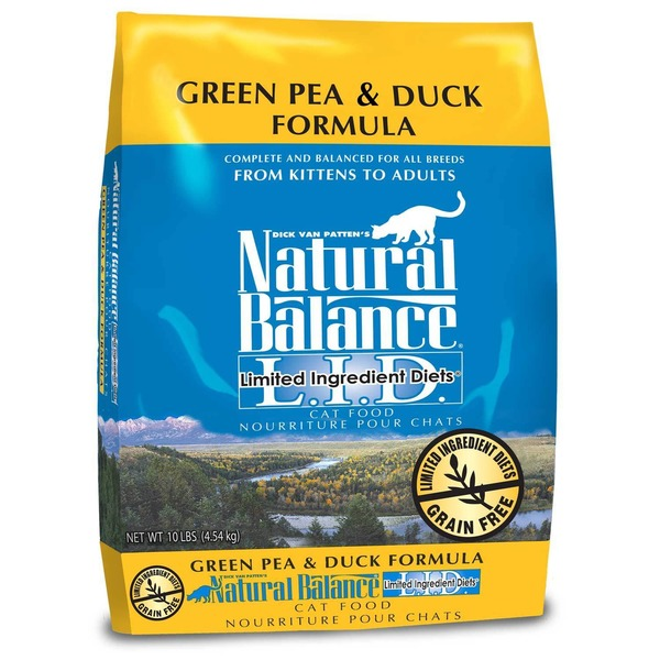 Natural Balance Green Pea & Duck Formula Complete & Balanced for All Breeds From Kitten to Adult Limited Ingredients