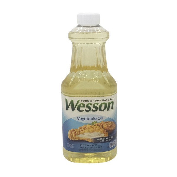 Pure Wesson Vegetable Oil, Pure & 100% Natural