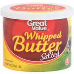 Great Value Salted Whipped Butter.