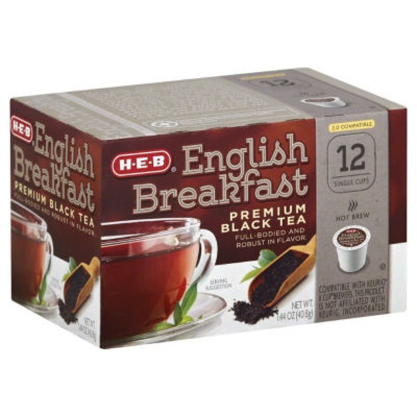 H-E-B English Breakfast Premium Black Tea Single Cup