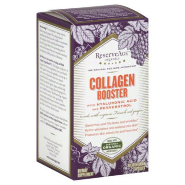 Reserveage Nutrition Collagen Booster With Hyaluronic Acid & Resveratrol