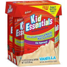 Boost Kid Essentials Vanilla Nutritionally Complete Drink, 8.25 fl oz, 4 count