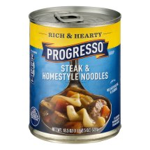 Progresso™ Low Fat Rich & Hearty Steak & Homestyle Noodles Soup 18.5 oz Can, 18.5 OZ