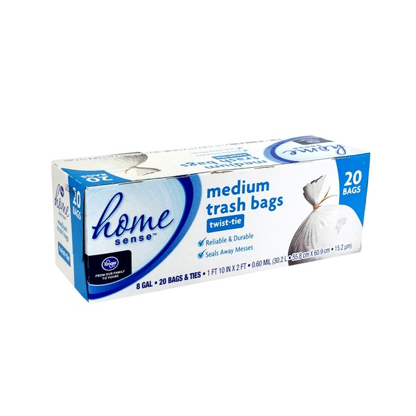 Kroger Home Sense Medium 8 Gallon Garbage Bags Delivery