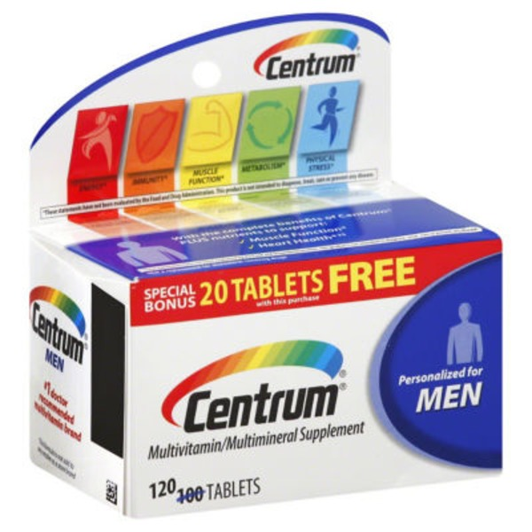 Centrum Multivitamin  Multimineral Supplement Personalized For Men Tablets