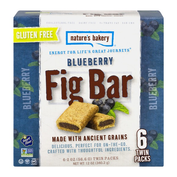 Nature's Bakery Fig Bar Gluten Free Blueberry - 6 CT