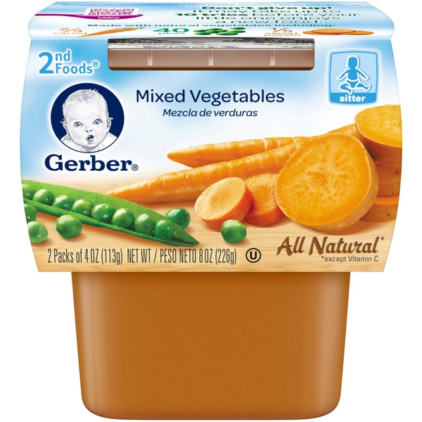 Gerber Foods Mixed Vegetables 2nd Food