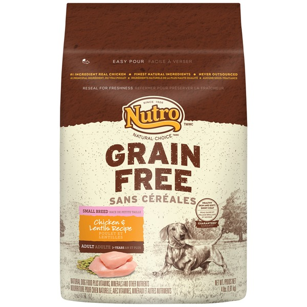 Nutro Natural Choice Grain Free Chicken & Lentils Recipe Small Breed Dog Food