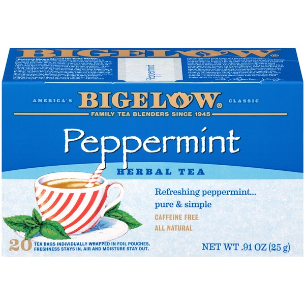 Bigelow Peppermint Herbal Tea Bags