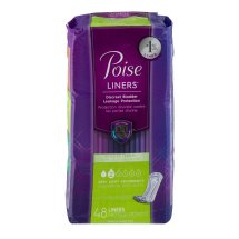 Poise Incontinence Panty Liners, Very Light Absorbency, Regular (Choose Your Count)