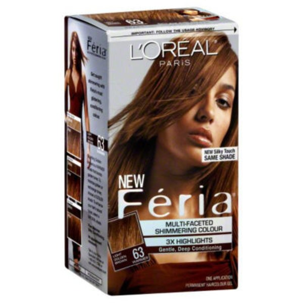 Feria Multi-Faceted Shimmering Colour 63 Light Golden Brown Hair Color