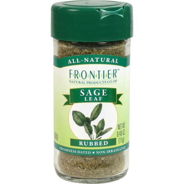 Frontier Natural Products Co-op Frontier Sage Leaf Rubbed