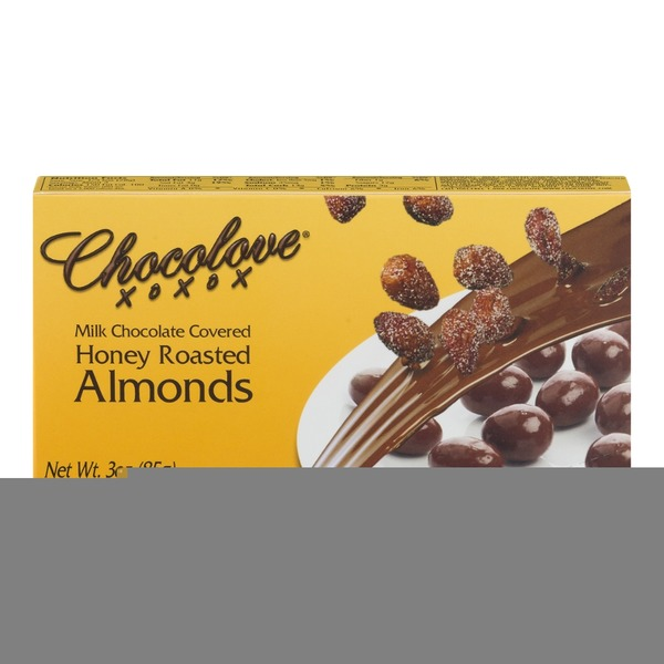 Chocolove Milk Chocolate Covered Honey Roasted Almonds