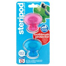 Steripod Clip-On Toothbrush Sanitizer (2 Pack Green And Blue)