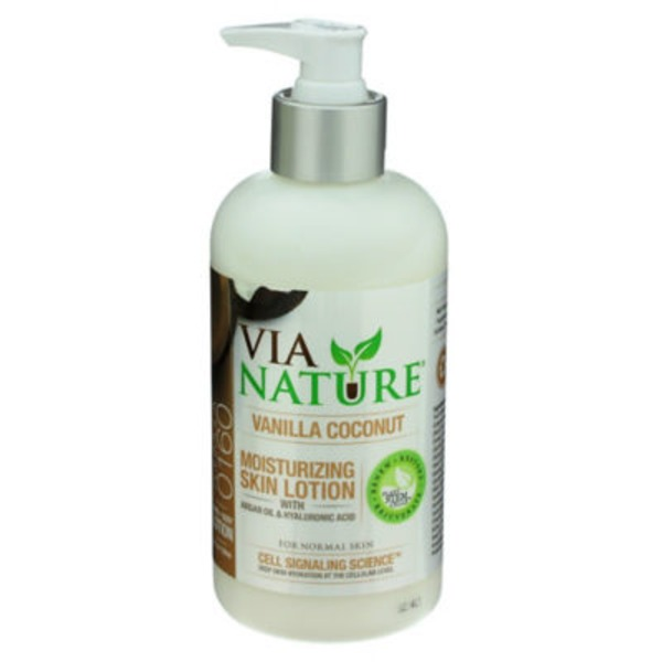Via Nature Moisturizing Vanilla Coconut Skin Lotion