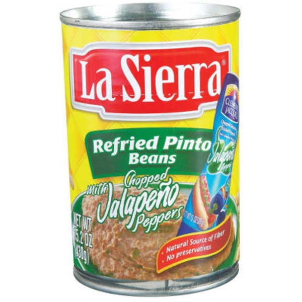 La Sierra Refried Pinto Beans With Chopped Jalapeno Peppers