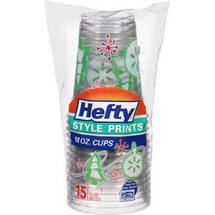 Hefty Style Prints 18 Oz Plastic Cups