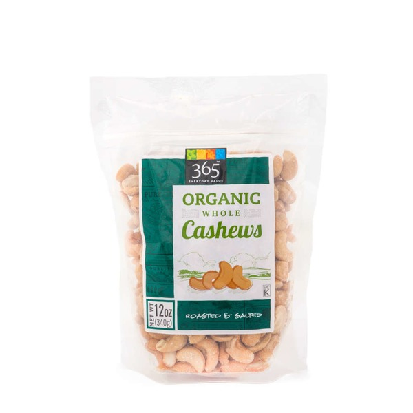 365 Organic Roasted Salted Cashews