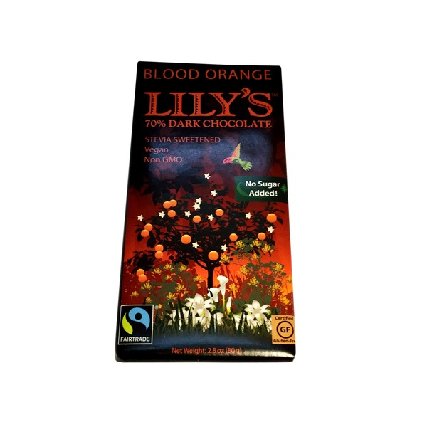 Lily's Blood Orange 70% Dark Stevia Sweetened Chocolate Bar