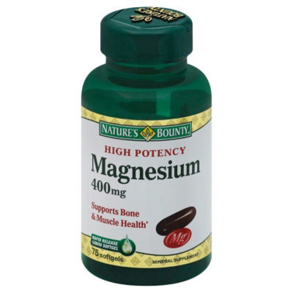 Nature's Bounty Softgels Magnesium 400 Mg