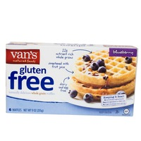 Van's Gluten Free Whole Grain Brown Rice Waffles Blueberry - 6 CT