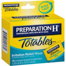 Preparation H® Totables® Medicated Hemorrhoidal Wipes with Witch Hazel 10 ct Box