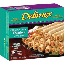 Delimex Chicken & Cheese Large Taquitos, 18 count, 21.6 oz