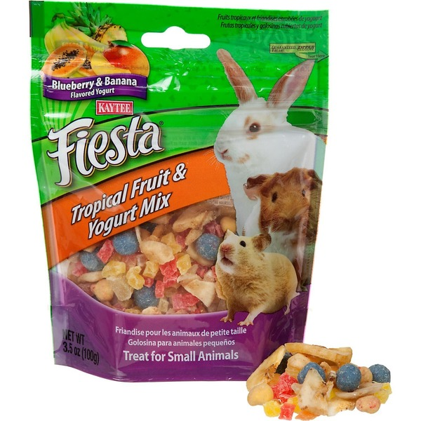 Kaytee Blueberry & Banana Flavored Yogurt Fiesta Tropical Fruit & Yogurt Mix for Small Animal