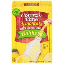 Country Time On the Go Drink Mix, Lemonade, 10 x 0.67 Oz, 6.7 oz