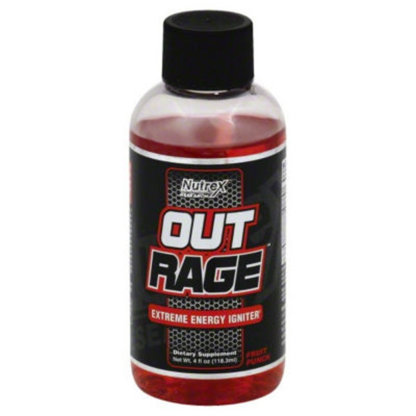 Nutrex Outrage Extreme Energy Shot, Fruit Punch