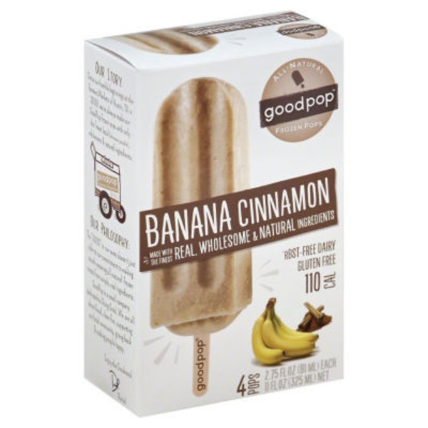 GoodPop Banana Cinnamon Frozen Pops