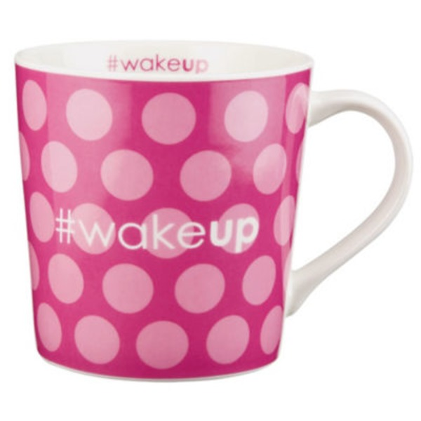 Jay Imports Wake Up Hashtag Mug 16 Oz