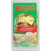 Buitoni Freshly Made. Filled with creamy Ricotta, aged Parmesan and Romano cheeses Four Cheese Ravioli