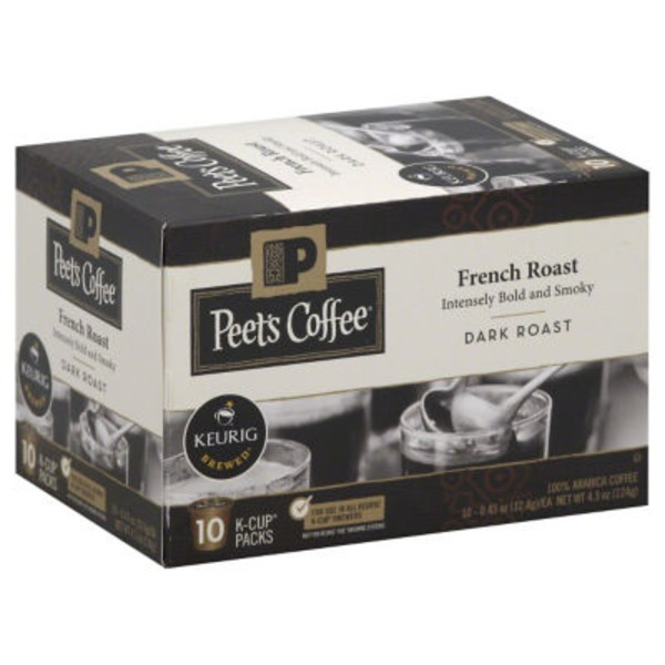 Peet's Coffee & Tea French Roast Single Serve Cups Dark Roast Coffee