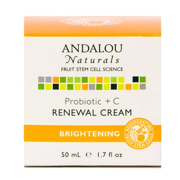 Andalou Naturals Renewal Cream, Brightening, Probiotic +C