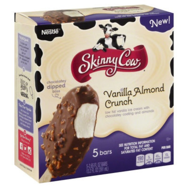 Skinny Cow Vanilla Almond Crunch Bars