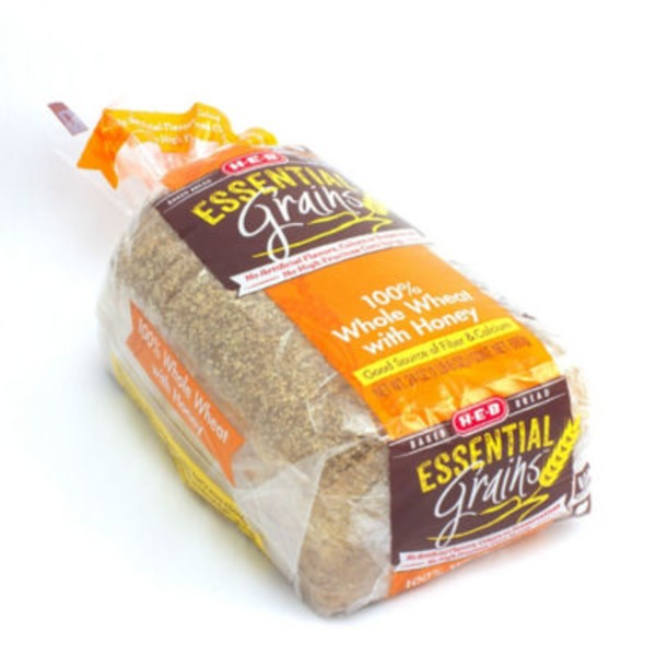 H-E-B Essential Grains Whole Wheat With Honey Bread