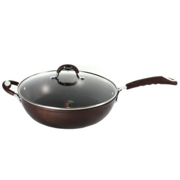 H-E-B Kitchen & Table Bronze Saute Pan With Glass Lid
