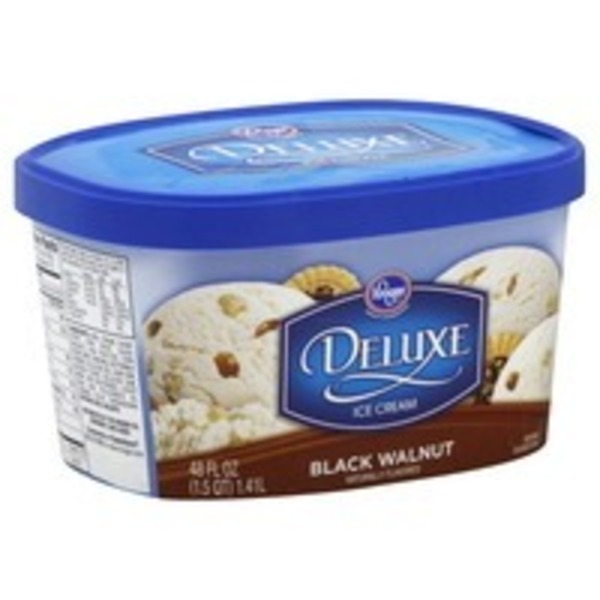 Kroger Deluxe Ice Cream Black Walnut