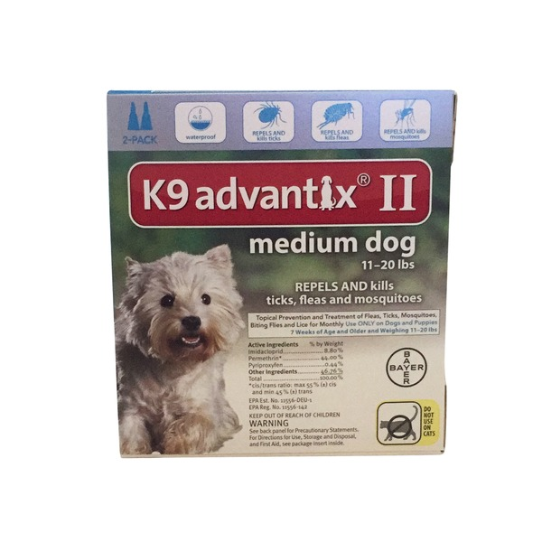 Advantix K9 Advantix Ii Topical Medium Dog Flea & Tick Treatment