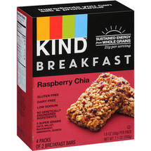 KIND Raspberry Chia Breakfast Bars