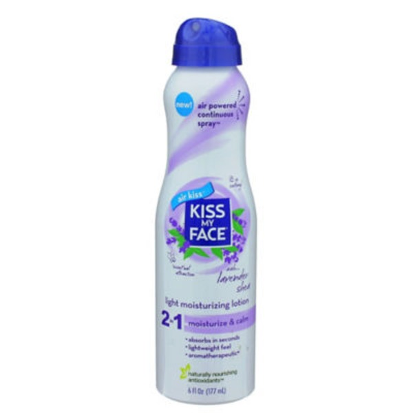 Kiss My Face Light Moisturizing Lotion 2 in 1 Moisturize & Calm Lavender Shea