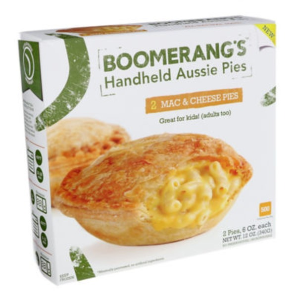 Boomerang's Macaroni And Cheese Handheld Aussie Pies