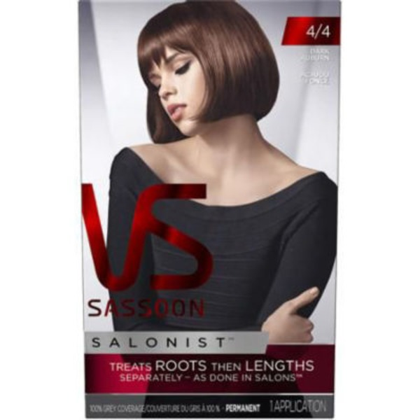 Vidal Sassoon Salonist Permanent 4/4 Dark Auburn Hair Colour
