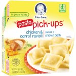 Gerber Pasta Pick-Ups, Chicken and Carrot Ravioli Packed in Chicken Broth, 6 oz Tray