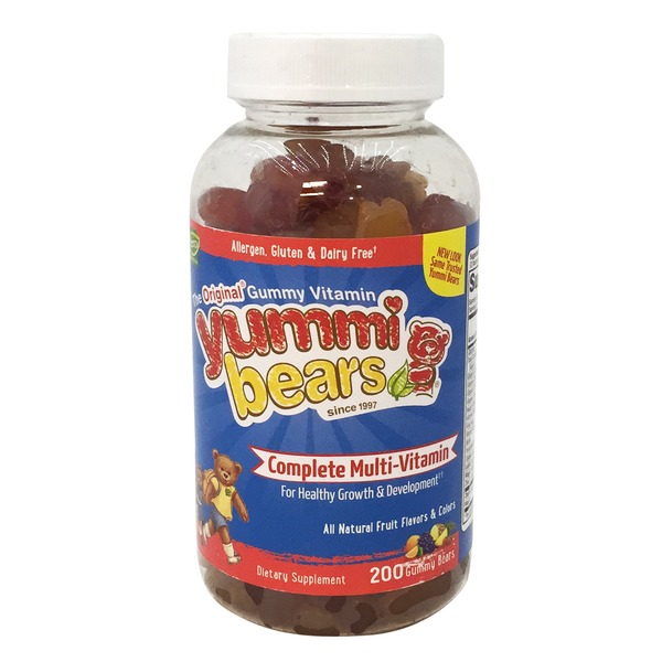 Hero Nutritional Yummi Bears Multi-Vitamin & Mineral Gummy Bears, Fruit Flavors