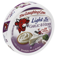 The Laughing Cow Cheese Wedge Garlic Herb Light