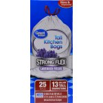 Great Value Strong Flex Tall Kitchen Drawstring Trash Bags, Lavender Fields, 13 Gallon, 25 Count